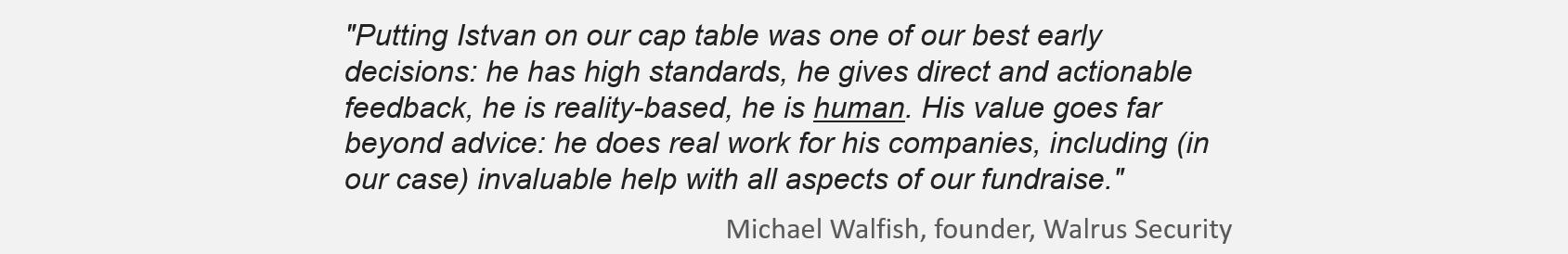 Walrus testimonial